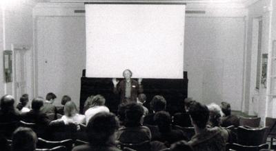 Jonas Mekas im Mai 1993 im damaligen CinéMayence